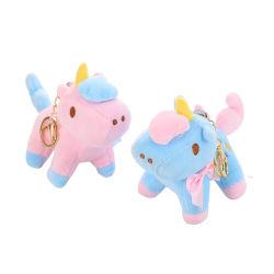 Catena chiave della peluche dell'unicorno di 2 colori