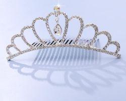 تيارا للأطفال الأميرة Rhinestone التاج تمشيط الشعر