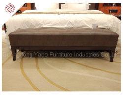 Elegante Hotel Muebles de dormitorio con cama de cuero de Banco (YB-E-20)