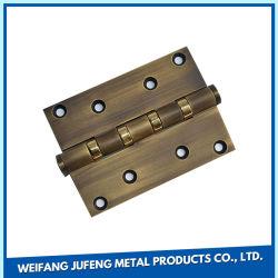 中国の固体真鍮のボールベアリングのヒンジの平らなドアヒンジ