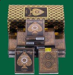 كازينو 100 ٪ الذهب طباعة بوكر PVC بطاقات اللعب البلاستيكية