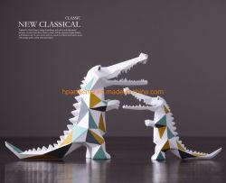 Het nieuwe Klassieke Standbeeld van de Krokodil van de Kleuren van de Meetkunde voor de Decoratie van de Woonkamer