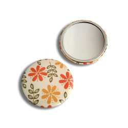 Hot Sale Cheap ronde en métal cadeau de promotion de l'étain Pocket miroir de maquillage