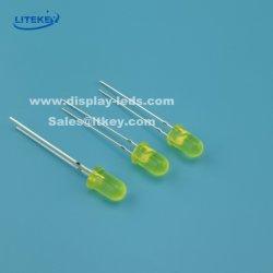 Bernstein 5mm Hoch-Helligkeit runde LED mit gelbem zerstreutem Objektiv-China-Hersteller