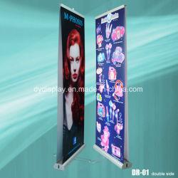 Двойной стороны потяните дисплей баннера рулон баннер подставка для торговых выставок