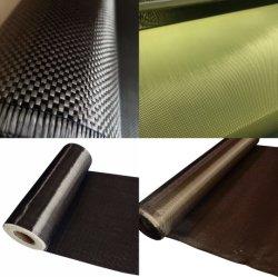 Des échantillons gratuits Ud tissu en fibre de carbone, de Kevlar de l'aramide Tissu, tissu de l'aramide carbone hybride, de basalte de tissus, de tissu en fibre de carbone avec prix d'usine
