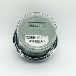 1 Dds-1L única fase dois ronda do fio medidor de energia com infravermelho Kwh metros visor LCD