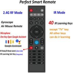 Идеальный 2.4G гироскопа РЧ беспроводная мышь с 40 ИК-программировании кнопок микрофона для Google Assistant голос для Android Smart TV в салоне пульт дистанционного управления