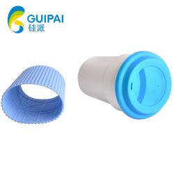 La promoción de la camisa y tapa de silicona para la taza de café
