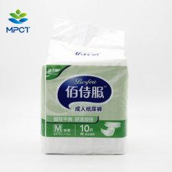 Economische Conton Surface Clothlik Competitive Price Wood Fulf Pulp met SAP-diapen voor volwassenen