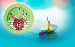 Schattige teddybeer 10 inch Cartoon Klok voor kinderen Gift