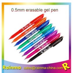 Rotuladores de tinta gel borrar lápiz bolígrafo borrable removedor de logotipo personalizado con el borrador de lápiz para el suministro de material de oficina