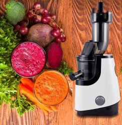 ホーム台所電気ジュース機器はJuicerの世帯の電気柑橘類の遅いJuicerのフードプロセッサの台所機器の大きい口挿入シュートのJuicerを遅らせる