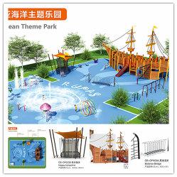 Campo da giuoco esterno per il parco a tema dell'oceano