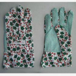 Lady's PVC Palm en pointillés coton gant de travail de jardin