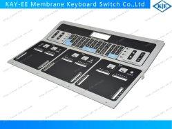 Structuurafdruk Van Grote Membraantoetsenborden Switch Met Gebogen Aluminium Paneel