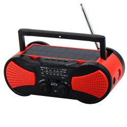 Nachladbarer MP3-Player-reizbarer Solarradio mit Multifunktions-TF-KopfhörerJack Ableiter-Kartenspieler-Wetter-Band-Radio