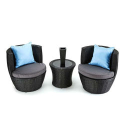 Зал отдыха для использования внутри помещений садовая мебель шезлонге стул плетеной один диван-кровать,