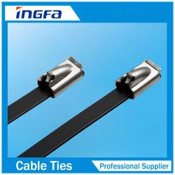 304 316 roestvrijstalen kogelvormige kabelbinders met PVC Gecoat