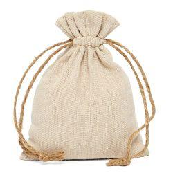 Eco-Friendly 100% algodão e linho Natural Muslin Dom bolsa com fio de cânhamo