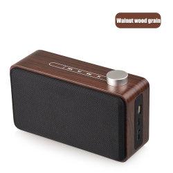 سماعة Bluetooth® لاسلكية ومكبر صوت خشبي خارجي مع Bluetooth® موسيقى ستريو