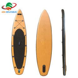 2020 年の注文の設計木膨張性 Sup のパドルボードの立場 パドルボード膨張式竹パドルボード