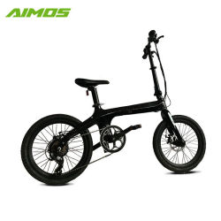ポスト電池カーボンファイバーのファイバーフレームのFoldable電気自転車をつけなさい