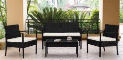 4 Unidades móveis de pátio exterior define a cadeira de vime Conjunto de vime, piscina indoor use Alpendre Quintal Varanda à Beira da Piscina Conjuntos de Mobiliário de Jardim