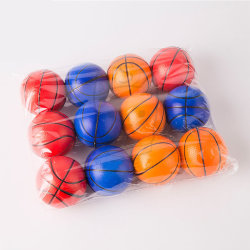Superstarer 6,3cm PU Schaum Elastic Orange Basketball Kinder Training Sponge Anpassung Der Pet-Spielkugel