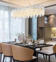 Sala da pranzo lampadario a soffitto decorato, lampadari a sospensione di lusso, vetro