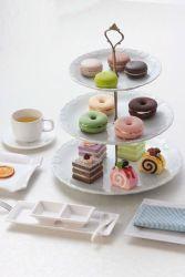 Melamin-Nachtisch-Teller/drei Schicht Hoch-Tee Teller (WT19910S)