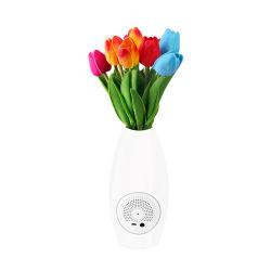 LED 人工チューリップ花の光とセラミックのスマートスクリーンの花瓶