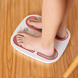 Nuevo cuerpo pies calientes saludable de la máquina de masaje Shiatsu pulso eléctrico eficaz EMS Calefacción Masajeador de pie con pantalla holográfica