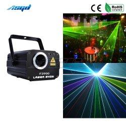 Licht van de Laserstraal van het Stadium van de Disco van DJ van Kerstmis het Decoratieve Met de Verlichting van de Laser van de Scanner van de Animatie 1800MW