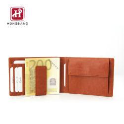 Slim Wallet dinero imán minimalista Bifold RFID Clip Monedero de PU para los hombres con caja de regalo