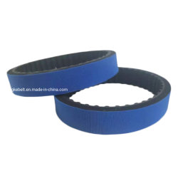 طلاء من المطاط ذو طلاء أزرق متغلف، ويوضع حزام آلة الملصقات على الحزام