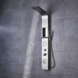 Cabeza cuadrada de baño de chorros de masaje de cuerpo del Sistema de Panel de baño con ducha de lluvia
