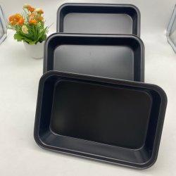 Venda por grosso de esmalte de Aço Carbono Folha Antiaderente Pan servindo o tabuleiro de ustulação Conjunto do cárter