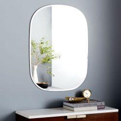 2-6 [مّ] حارّ عمليّة بيع موجة بيضويّة مستطيل شكل غرفة حمّام جدار منزل زخرفة زخرفة أثاث لازم مائل حمام يرتدي مرآة