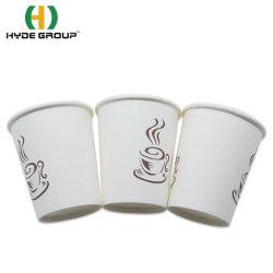 Machine de l'eau jetables à paroi simple Blanc Consommation de café les tasses de papier avec le logo