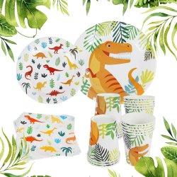 La vaisselle jetable Staraise 16pcs Dinosaur thème parti de la plaque de papier/cuvette/serviette de table pour bébé douche Kids Birthday Party de fournitures