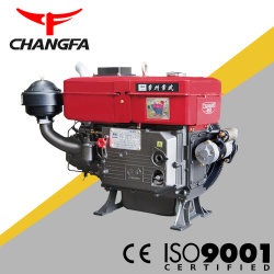 Changwu grande solo cilindro horizontal de motor diesel refrigerado por agua