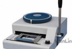 Mejor precio directo de fábrica Wenlin-2000 Máquina de estampación de la tarjeta de PVC 68 Personaje Embosser