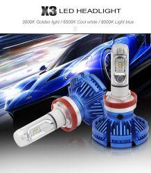LED X3 H4 Motociclo LED lâmpadas H7 H1 H11 6500K 12000LM de luzes de nevoeiro da lâmpada de cabeça do motor