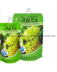 Confezione da 5 litri di succo biodegradabile con astuccio con stativo e fuoriuscita