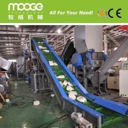 Timpano di plastica della bottiglia per il latte dell'HDPE del PE dei pp che schiaccia lavaggio riciclando riga con il prezzo Satisfied