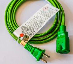 Серый хлопок витая 18/2 тканью ткань электрический шнур для Vintage, промышленных E лампы и вентиляторы