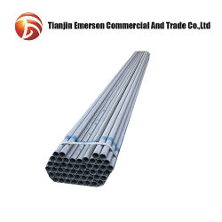 Geschweißtes Hochbau-Materialiengi-Rohr des Karton-runde Gefäß-ASTM Stahl53 galvanisiertes friedliches