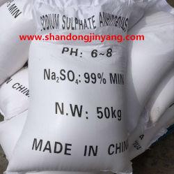 Sulfato de sódio anidro, 99%, sulfato de sódio para detergente/Vidro/têxteis