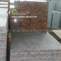 中国の石切り場の所有者のポーランド人のかえでの赤いG562花こう岩の築壁の床タイル